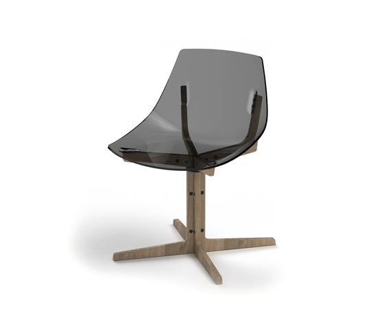 Aka Grigio trasparente di Skitsch by Hub Design | Sedie ristorante