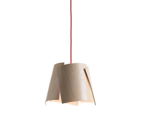Leaf 28 pendant in birch/ green cable de Bsweden | Éclairage général