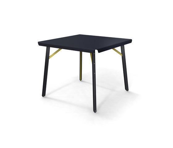 Dakar Table square white blue by Skitsch by Hub Design | Dining tables
