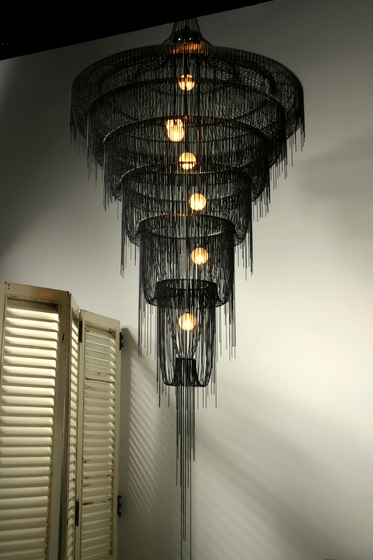 Droplet Art Chandelier 1000 di Willowlamp | Illuminazione generale