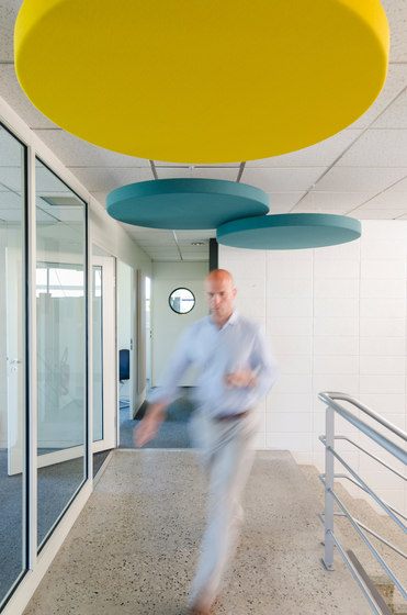 Abso acoustic cushions by Texaa® | Acoustic ceiling systems