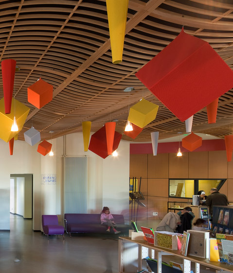 Abso cones and cubes by Texaa®   Suspended panels