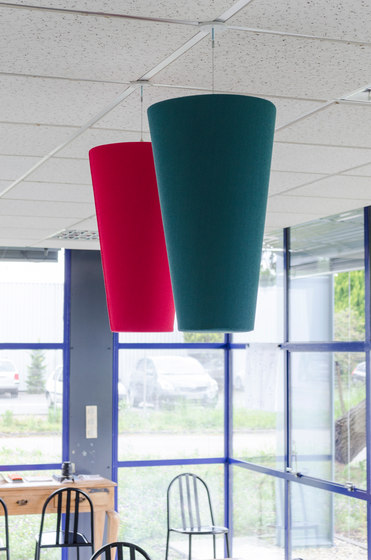Abso acoustic cones by Texaa® | Suspended panels