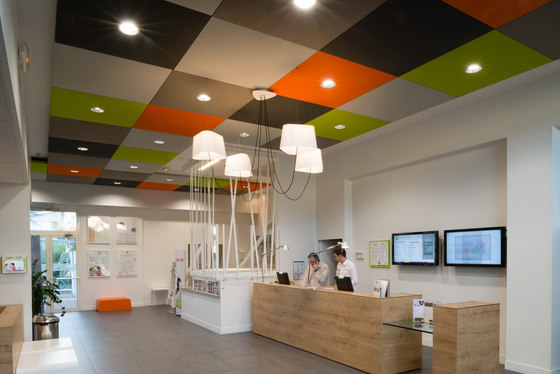 Stereo panels single-sided by Texaa® | Ceiling systems