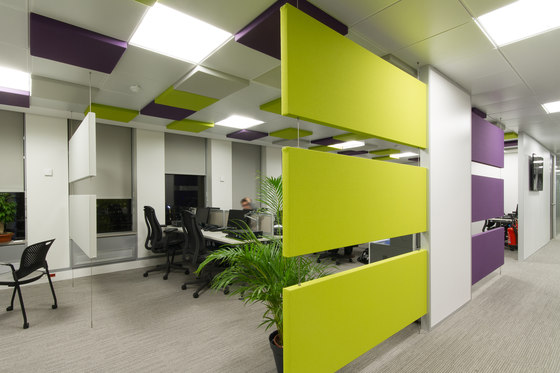 Stereo panels double-sided by Texaa® | Suspended panels