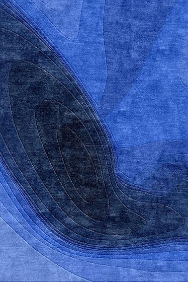 Confluence - Dégradé de bleus de Chevalier édition | Tapis / Tapis design
