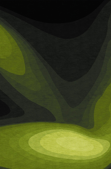 Confluence - Dégradé de verts von Chevalier édition | Formatteppiche / Designerteppiche