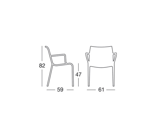 Extraordinaria di Scab Design | Sedie ristorante