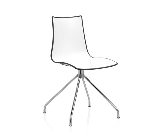 Zebra Bicolore by Scab Design | Restaurant chairs