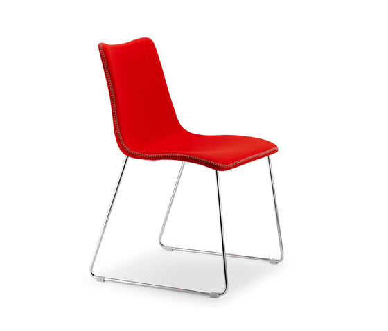 Zebra Pop with sledge frame by Scab Design | Visitors chairs / Side chairs