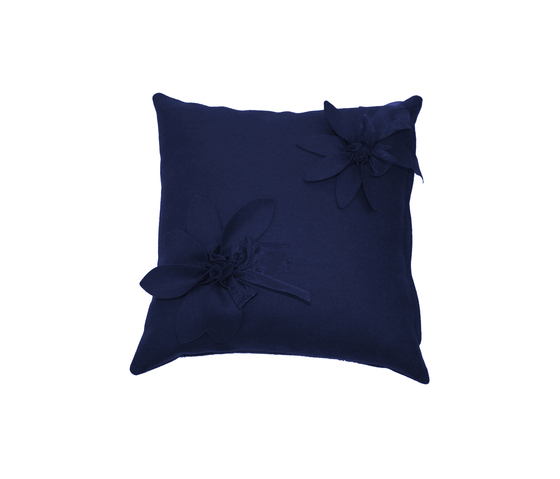Eva Fiore cushion blu by Poemo Design | Cushions