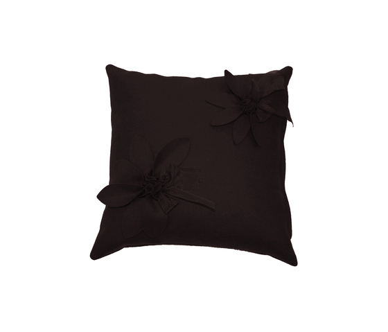 Eva Fiore cushion marrone by Poemo Design | Cushions