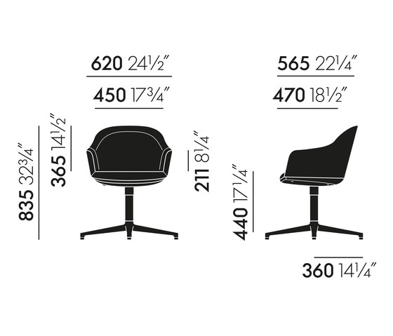 Softshell Chair de Vitra | Sillas de visita