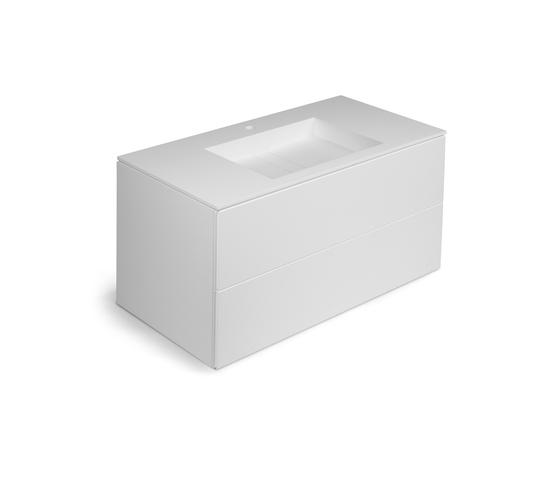 Block Bathstone by Cosmic | Vanity units