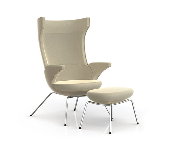 i-SIT armchair and stool by Magnus Olesen | Lounge chairs