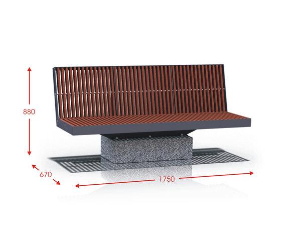 Celesta by Cabanes | Exterior benches