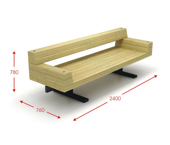 Central Park by Cabanes | Exterior benches