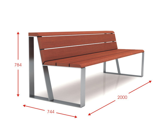Lineal by Cabanes | Exterior benches