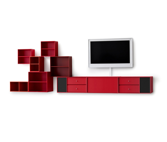 Montana TV Hifi living high red* by Montana Møbler | Multimedia sideboards