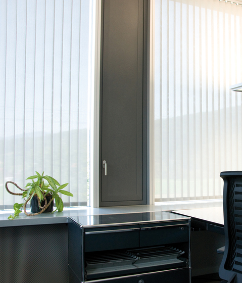Vertical Blind System Silent Gliss 2950 by Silent Gliss | Vertical blinds