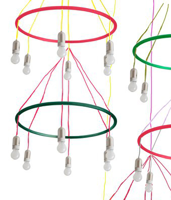 Goldman Hula Hoop chandelier by Woka | General lighting