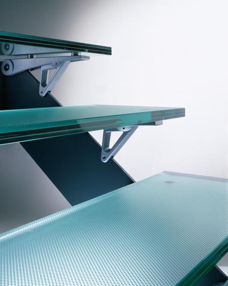 Madras® Pixel Flooring clear von Vitrealspecchi | Glastreppen