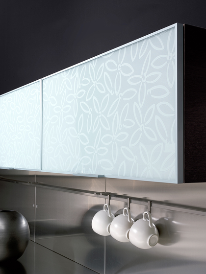 Madras® Petali Lac by Vitrealspecchi | Decorative glass