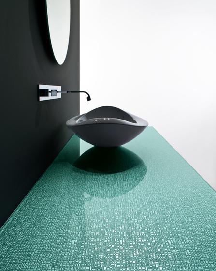 Madras® New York green painted de Vitrealspecchi | Armarios de baño