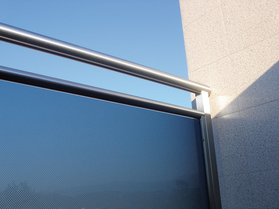Madras® Pixel blue by Vitrealspecchi | Balcony glazing