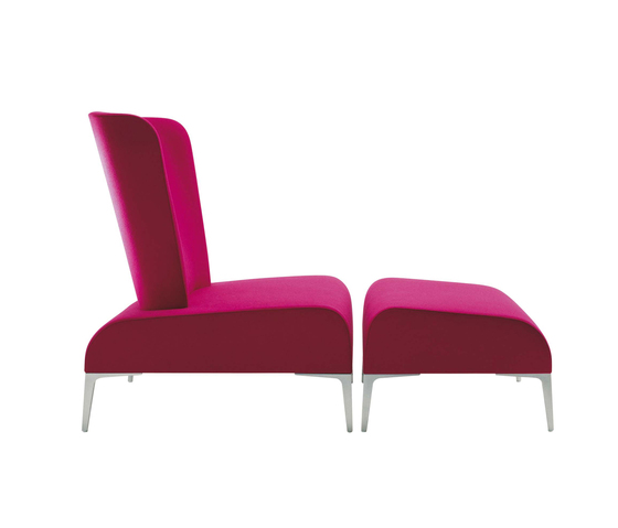 Alphabet - Fi Tall | Armchair + Pouf by Segis | Armchairs