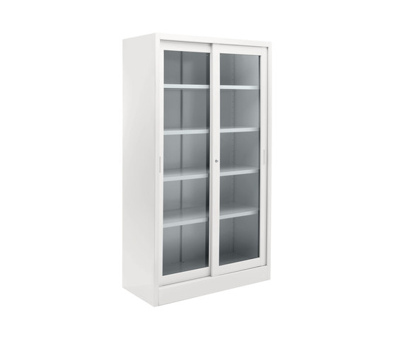 Tempered glass sliding door cabinet | W 1200 H 2000 mm de Dieffebi | Meubles de rangement