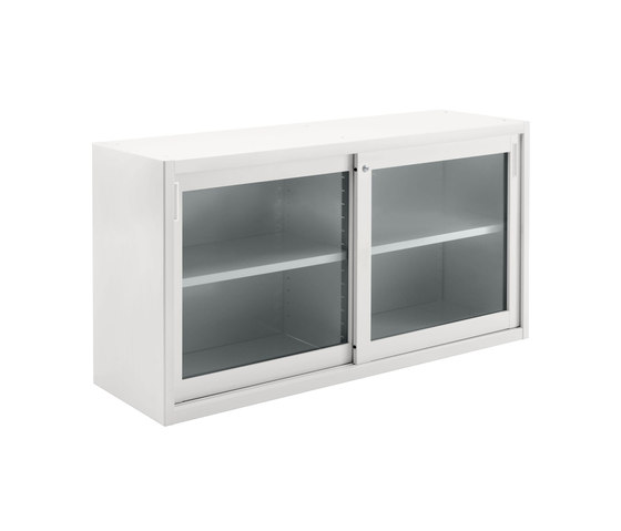 Tempered glass sliding door cabinet | W 1800 H 880 mm by Dieffebi | Sideboards