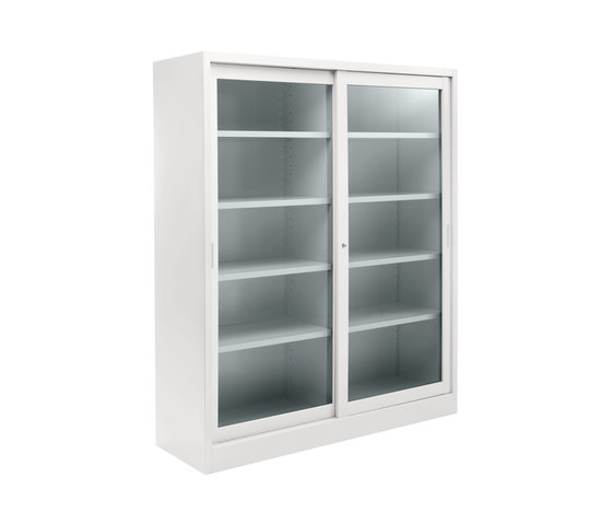 Tempered glass sliding door cabinet | W 1800 H 2000 mm de Dieffebi | Meubles de rangement