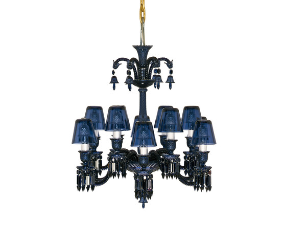 Zénith Midnight by Baccarat | Ceiling suspended chandeliers