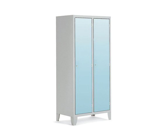 HPL | 2 doors locker with partition de Dieffebi | Casiers / Vestiaires