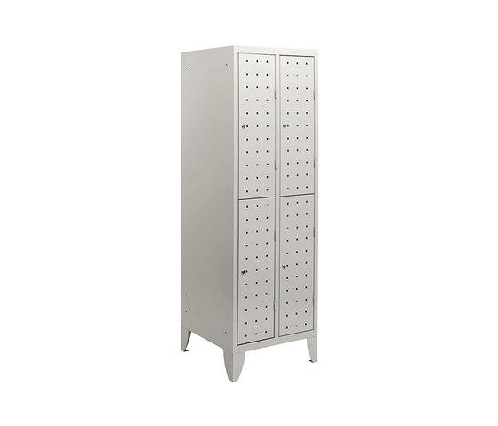 Multiplus Design | 2 Tiers 4 doors locker H1800 von Dieffebi | Kleiderspinde / Schliessfächer