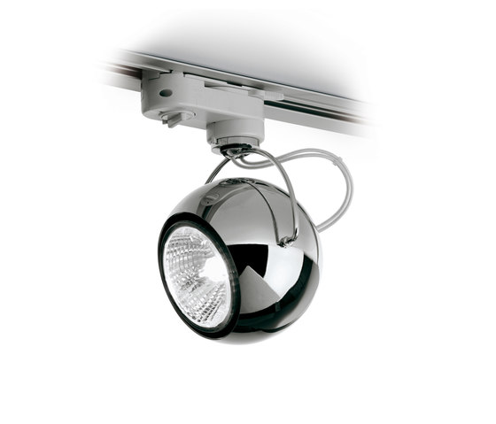 Beluga Steel D57 J03 15 de Fabbian | Low voltage track lighting