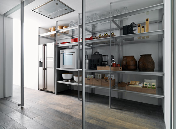 New Logica System Invitrum verde prato by Valcucine | Fitted kitchens