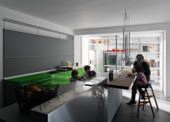New Logica System Invitrum verde prato von Valcucine | Einbauküchen