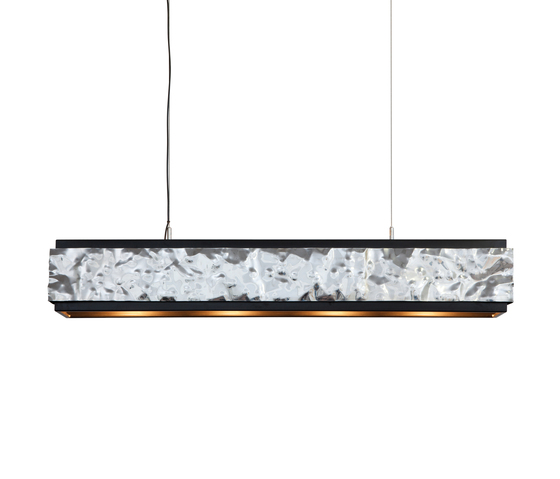 Crushed Cover hanging lamp long de Brand van Egmond | Éclairage général