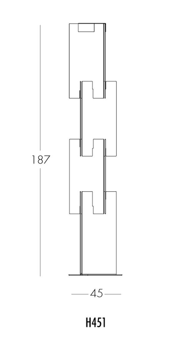 Infini H451 floor lamp by Dix Heures Dix | Free-standing lights