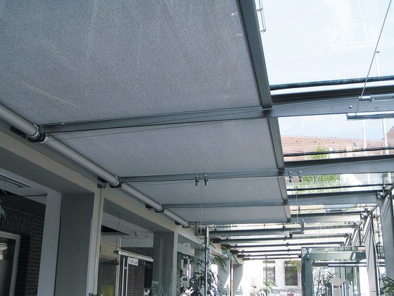 Skylight Shading System Silent Gliss 8600 by Silent Gliss | Winter garden systems