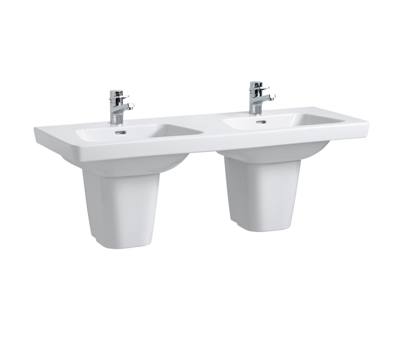 Modernaplus | Lavabo double à poser sur meuble de Laufen | Lavabos