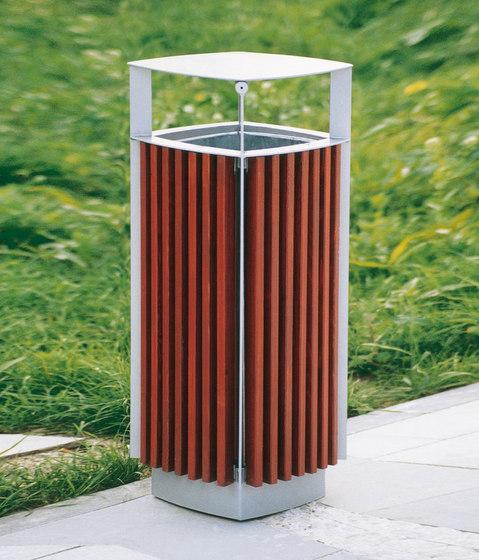 diagonal Abfallbehälter von mmcité | Abfallbehälter