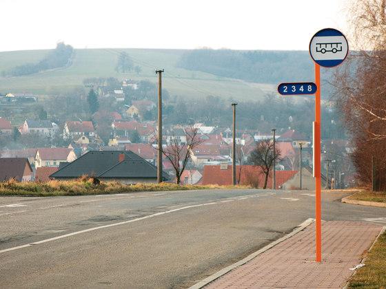 oz Panneau d'arrêt de bus de mmcité | Panneaux d´informations