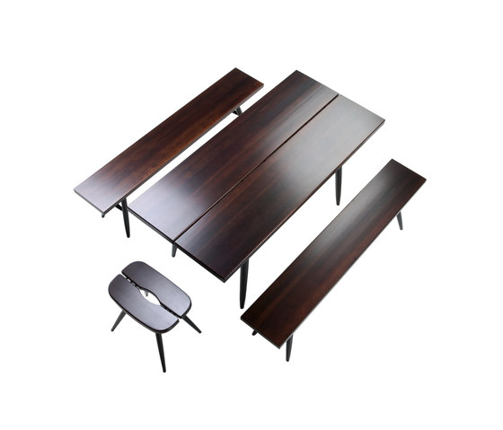 Pirkka Table with 2 Benches by Artek | Restaurant tables and benches