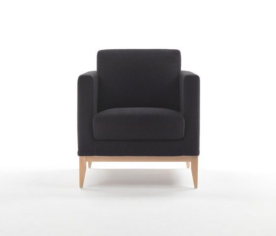 Cubic Wood Armchair by Giulio Marelli | Lounge chairs