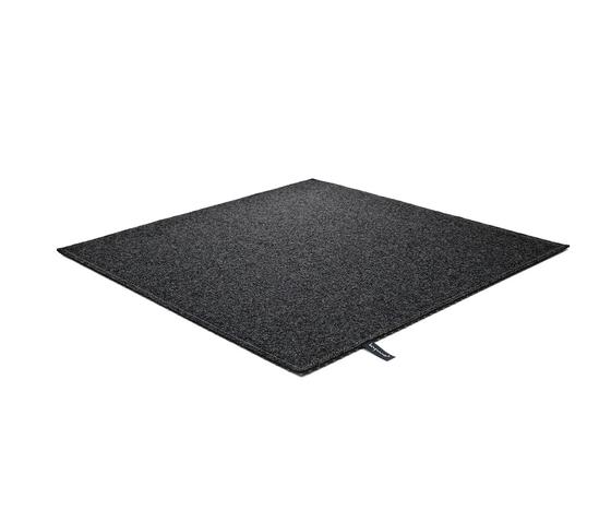 Fabric [Flat] Felt black melange von kymo | Formatteppiche / Designerteppiche