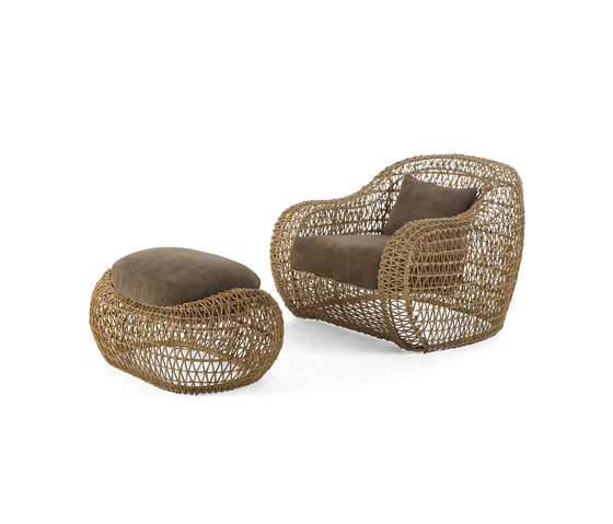 Balou Easy Armchair with Ottoman von Kenneth Cobonpue | Gartensessel