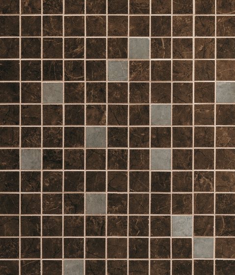 Admiration Brown Emperador Mosaico Dek by Atlas Concorde | Ceramic mosaics